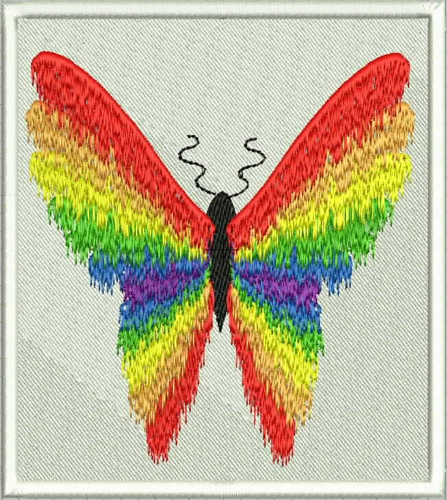 Butterfly1 | Pride Embroidery Designs | Pinterest
