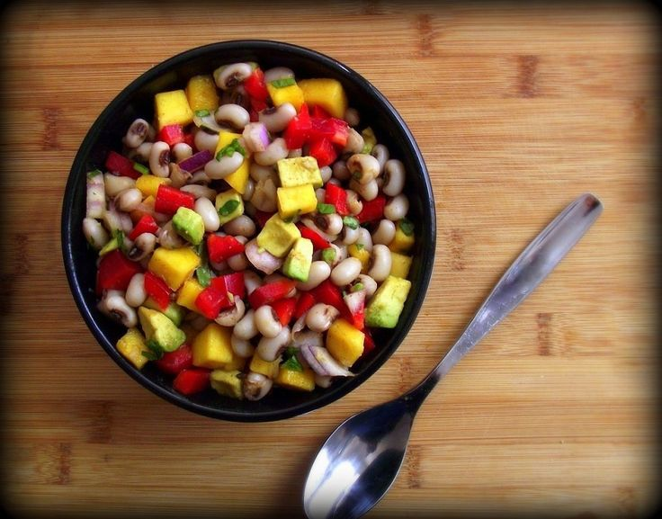 Recipe: Black Eyed Pea & Mango Salad with Honey-Cumin Vinaigrette ...