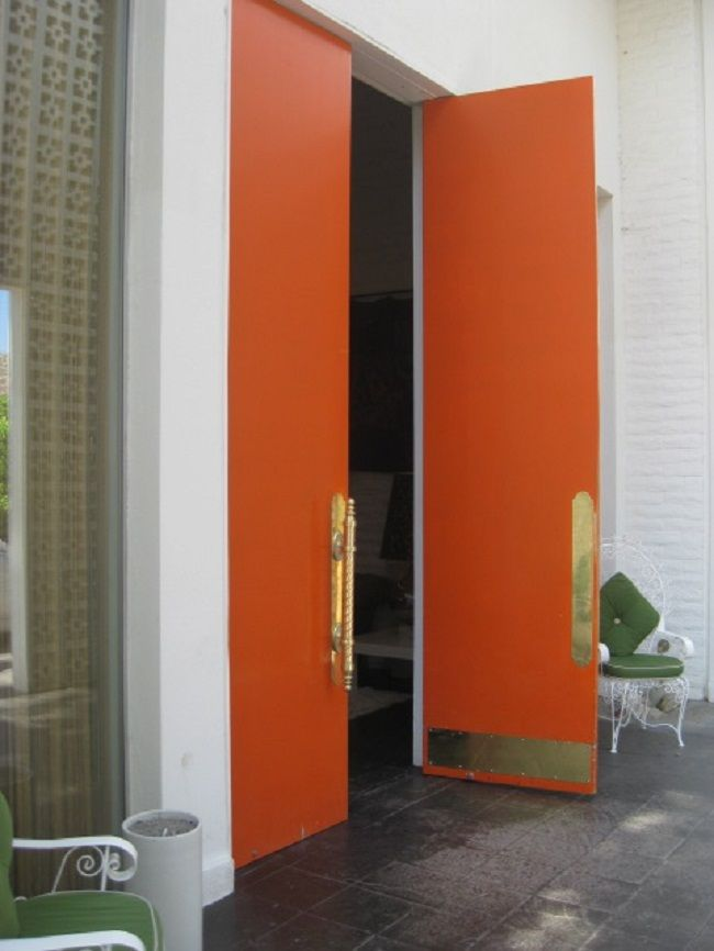 Orange front door door designs plans door design plans for Oversized front door