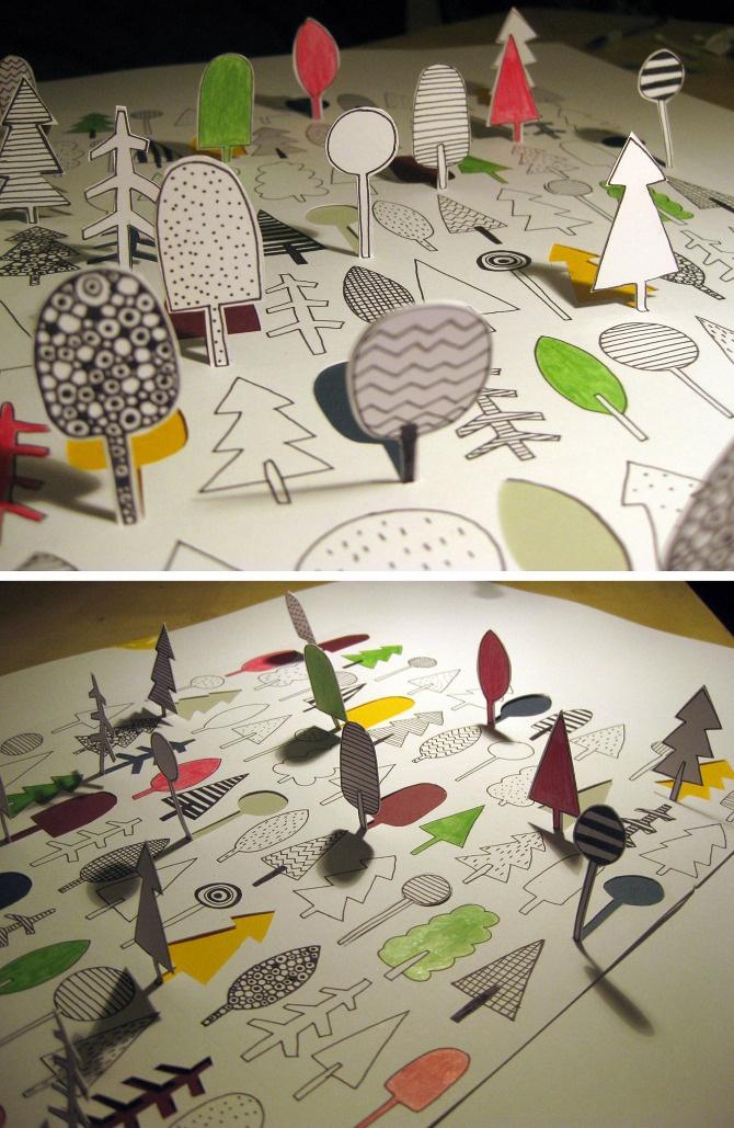 DIY: forest paper <3