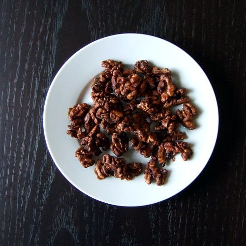 Candied Walnuts, maple syrup, coconut sugar all baked, looks easy and ...