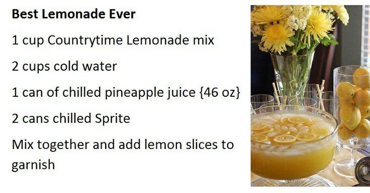 Best Lemonade Ever | Beverages | Pinterest