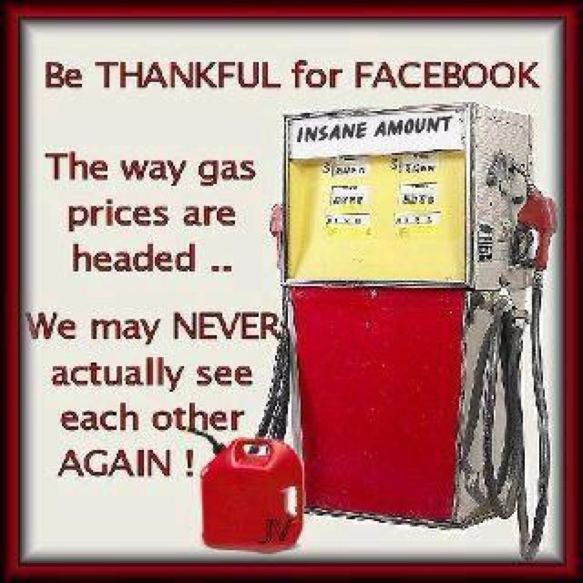The economy will suffer as we continue to buy more online in order to save money on gas! UPS will love it!!!