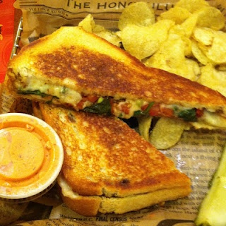 """Cheesy Caprese"""" Grilled Cheese with fresh mozzarella cheese, plum ..."""