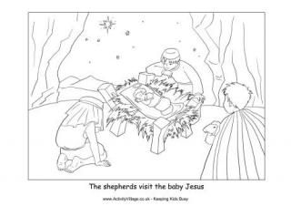 Found on activityvillage co ukNativity Coloring Pages Shepherds