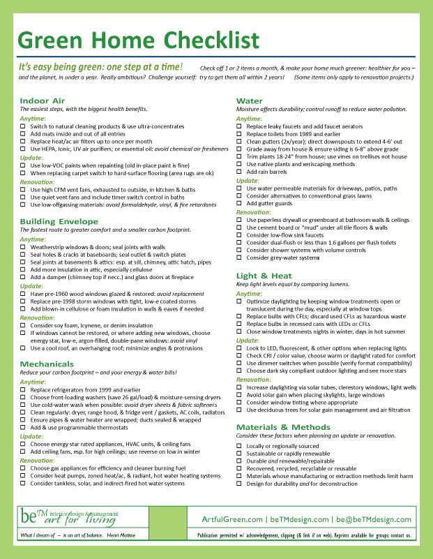 Home design checklist 28 images home design checklist for Home design checklist