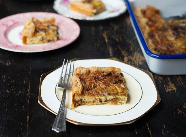 Caramelized Onion Tart with goat cheese and rosemary- plus a 2 min ...