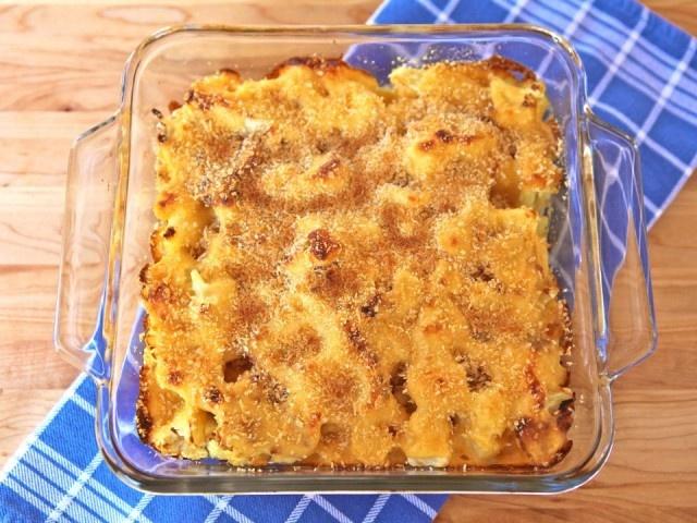 Cauliflower Gratin With Sharp Cheddar And Parmesan Recipe — Dishmaps