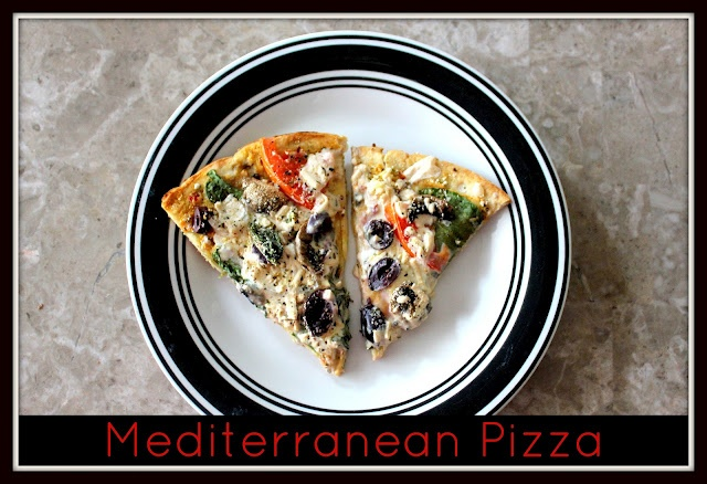Vegan Mediterranean Pizza | Food | Pinterest