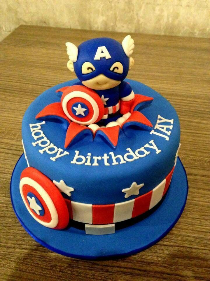 Mad cute Captain America cake