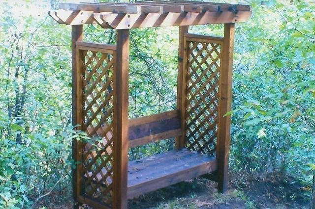 Trellis Bench How My Garden Grows Pinterest