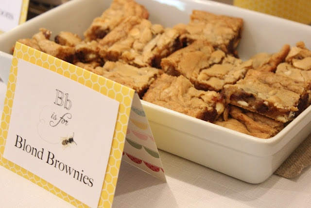 Blond Brownies. I tried these last night with butterscotch chips and ...