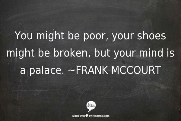 Frank mccourt quote