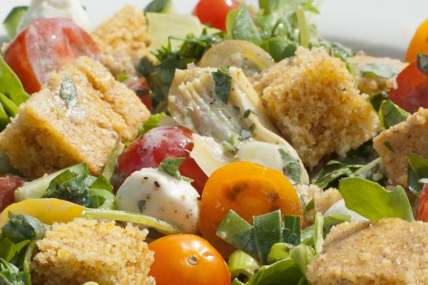 Tomato Panzanella Salad - great use for heirloom tomatoes, cucumbers ...