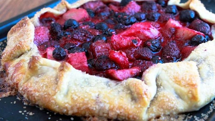 ... -berry and rhubarb galette which makes a perfect summertime dessert