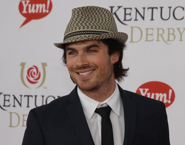 Iam Somerhalder of 'The Vampire Diaries' showing off his Derby style on the Kentucky Derby red carpet