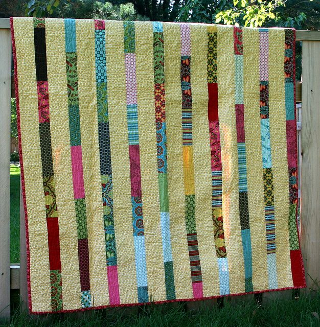 strip quilt pattern option Quilts Pinterest