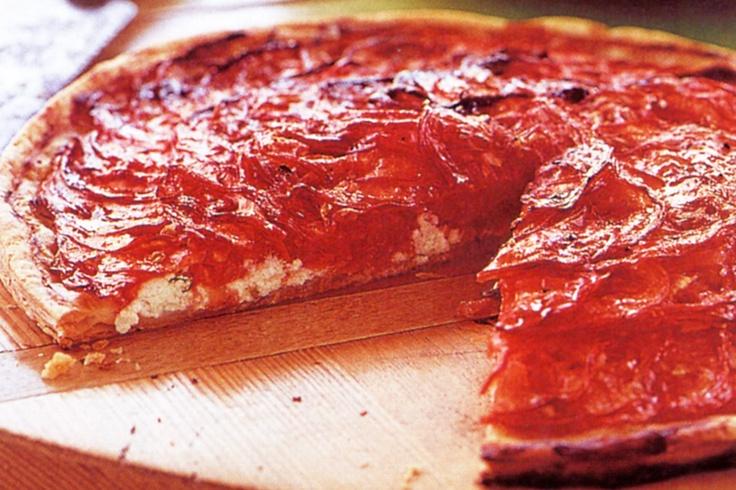Tomato & Goats Cheese Tart | Vegetarian Delights | Pinterest