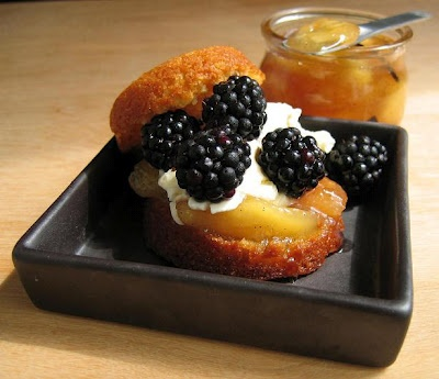 peach and blackberry shortcakes. | sweets | Pinterest