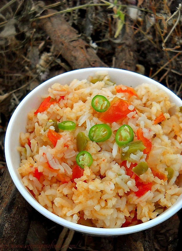 Spanish Rice via Veg Recipes of India