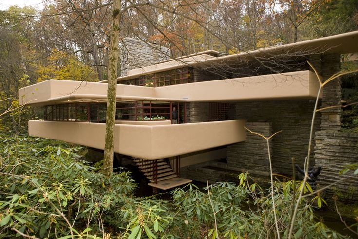 Fallingwater home architecture organique pinterest for Architecture organique