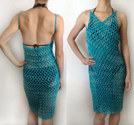 Crochet Swimsuit : Swimsuit Coverup (9 Sizes) - PDF Crochet Pattern - Instant Download