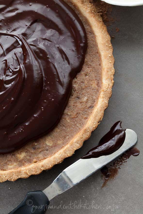 ... Chocolate Date Caramel Walnut Tart (Gluten Free, Grain Free, Vegan
