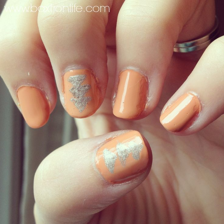 Essence Vintage Peach + Julep Ginger | I Heart My Nail Art | Pinterest