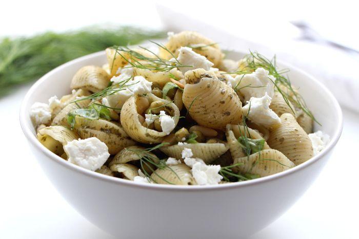 Pasta Salad With Peas And Pesto Recipe — Dishmaps