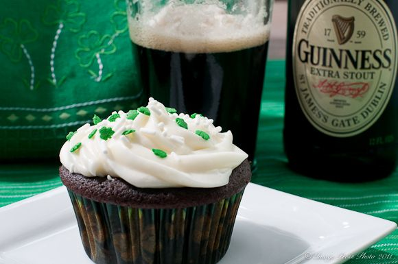 Guinness Stout & Chocolate Cupcakes