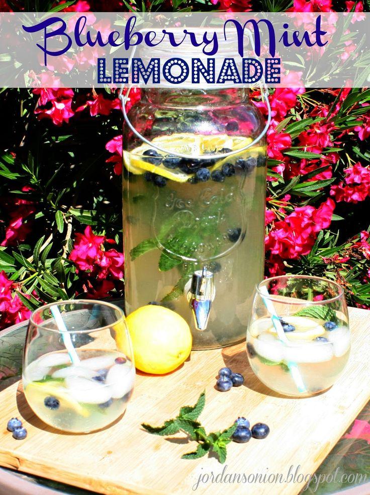 Jordan's Onion: Blueberry Mint Lemonade | drinks | Pinterest