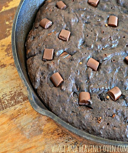 Fudgy Double Chocolate Skillet Brownies | Whole and Heavenly Oven