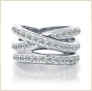 criss cross wedding band would go great with a very simple