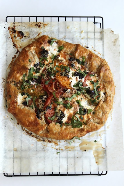 Heirloom Tomato Galette...beautiful!! Can't wait for enough heirloom ...