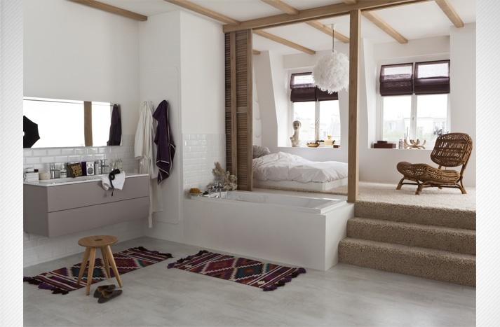 Salle De Bain Ouverte Sur Chambre Humidité : de bain ouverte sur chambre humidité : La Salle De Bains Ouverte Sur …