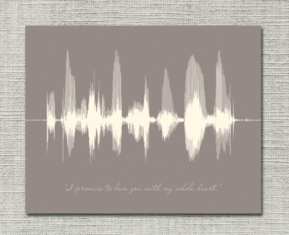 Happy anniversary personalized message sound wave