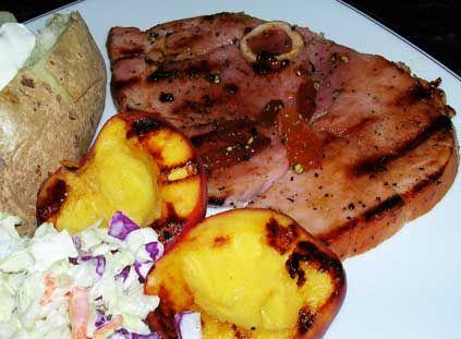 Glazed ham and peaches | Peaches | Pinterest