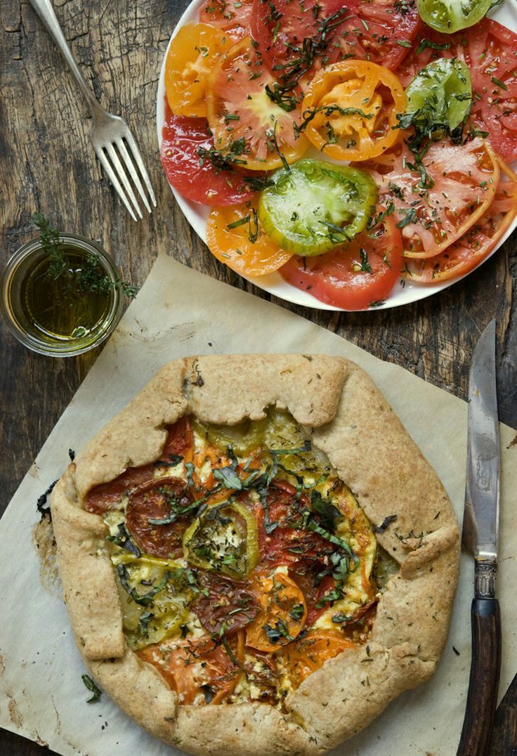 Heirloom Tomato Galette | Tomatoes | Pinterest
