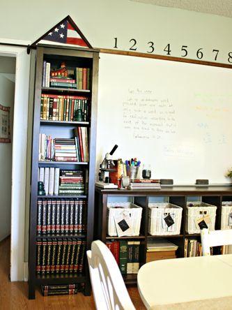 Homeschool organization homeschool environment pinterest for Homeschool dining room ideas