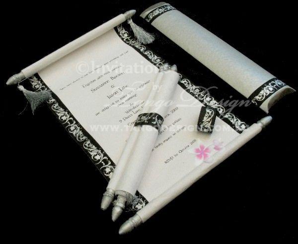 Vintage Wedding Scroll Invitation Inviti Nozze Pinterest