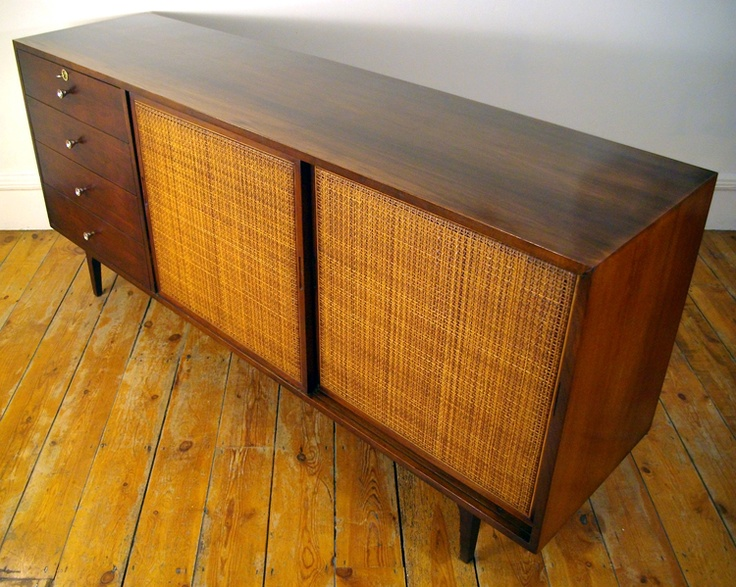Harvey Probber Rosewood And Cane Sideboard For Fall River