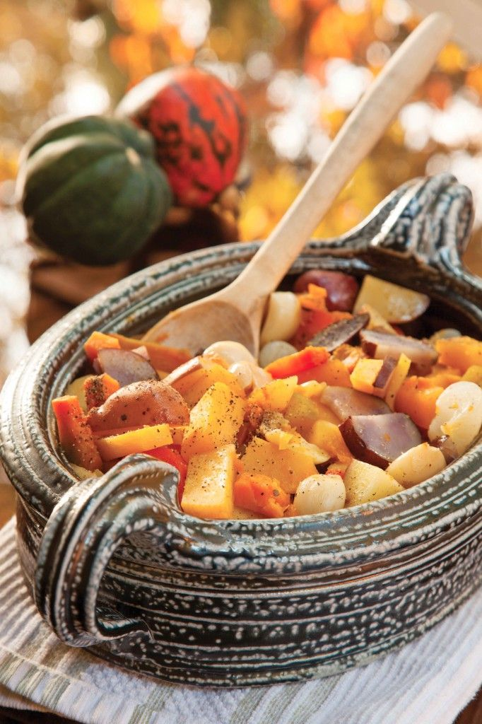 Roasted Winter Vegetables with Maple Syrup and Bourbon recipe / B ...