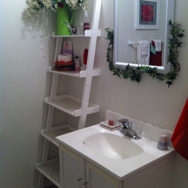 ladder shelf in bathroom beautiful or things to live