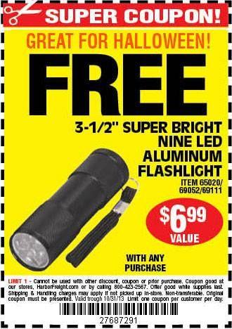 Flashlight coupon