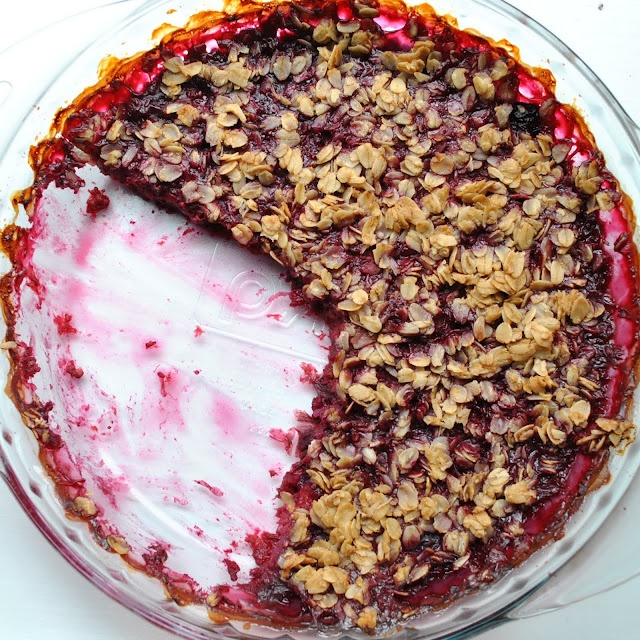 Blueberry-raspberry crisp -- going to have to try this one.