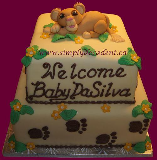 simba lion king baby shower cake baby shower pinterest