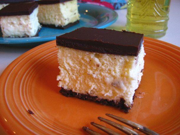 Spirited Cooking: Orangecello Chocolate Cheesecake Squares   Recipe