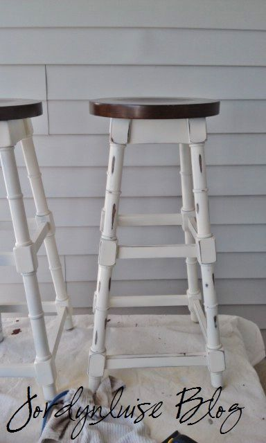 jl designs shabby chic bar stools crafty stuff pinterest. Black Bedroom Furniture Sets. Home Design Ideas
