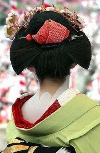 Split Peach Hairstyle | | Geisha | Pinterest