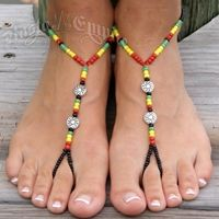rasta barefoot sandals